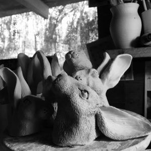 The shed rabbit heads