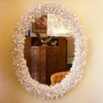 Box Hedge Oval Mirror