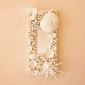 coral rectangle mirror